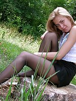 Black pantyhose outdoor
