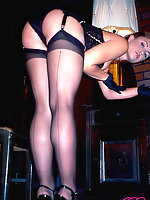 Sexy stocking vixens posing in vintage stockings