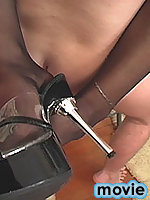 Mandy gives head fucking in stockings and heels