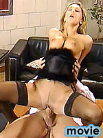 Claire fucking in sheer soft dark stockings