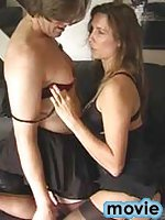 Tgirl licks and sucks on Janes sexy nylon covered legs