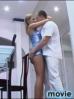 Mind-blowing fucking entertainment with sex-addicted guy and stockinged gal