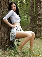 Pantyhose in the wood