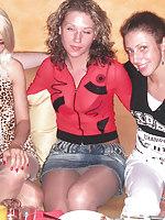 pantyhose no panties under skirt pics