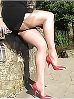 Girl in stiletto shoe