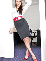 Hot Celeste Star in a naughty lesbian office sex scene