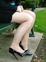 A bit of outdoor high heel diversion with one of our gorgeous models.