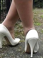 Tracy loves desirable just imagine the warmth together with feeling inside her lovely high heel shoe
