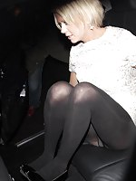 pantyhose no panties up skirt foto