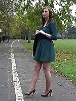 Debbie's walk is sexy and seductive, let her stimulate your fetish to a catch point be proper of no return