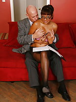 Office slut Jasmine screws her boss