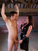 After enjoying being roughed less by the well endowed, low life driver, Miss Hybrid was keen with respect to get her own back on him. After wandering around the mansion she had stumbled across a dungeon in a disused hayloft. She gleefully uses the excuse