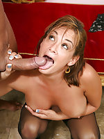 Pornstar Tory Lane in black stockings hardcore sex