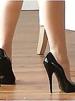 Becky in stiletto shoe
