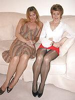 pantie hose under skirt foto