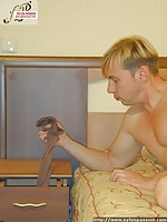 Hot couple play wild sexual games in pantyhose